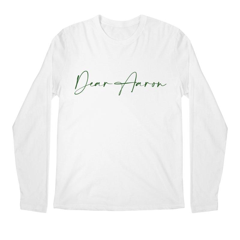 Dear Aaron (Dark Color Ink) Men's Longsleeve T-Shirt by M A R I A N A    Z A P A T A