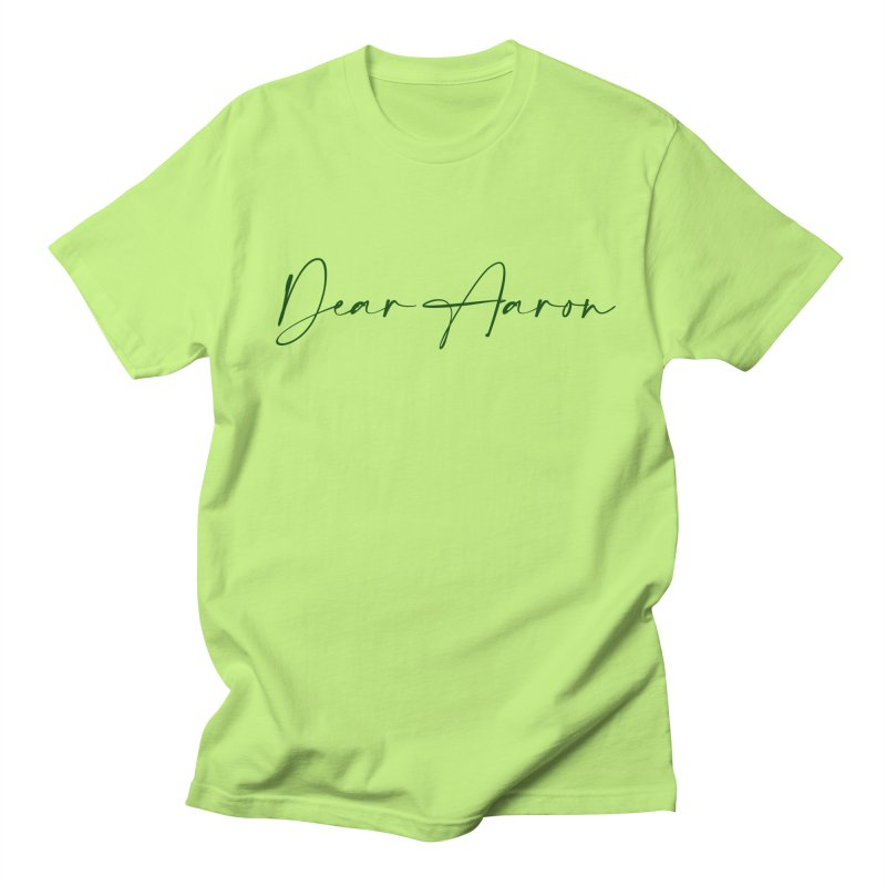 Dear Aaron (Dark Color Ink) Men's T-Shirt by M A R I A N A    Z A P A T A