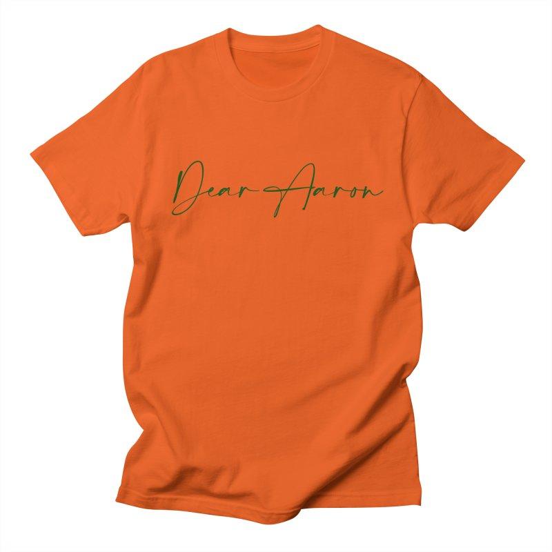 Dear Aaron (Dark Color Ink) Men's T-Shirt by M A R I A N A    Z A P A T A