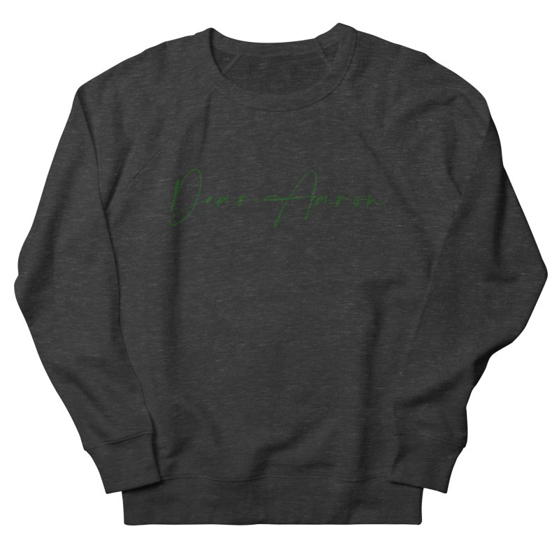 Dear Aaron (Dark Color Ink) Men's French Terry Sweatshirt by M A R I A N A    Z A P A T A