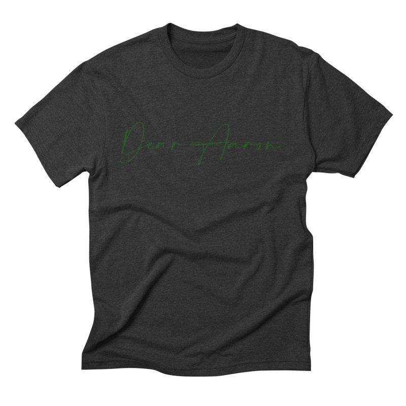 Dear Aaron (Dark Color Ink) Men's Triblend T-Shirt by M A R I A N A    Z A P A T A