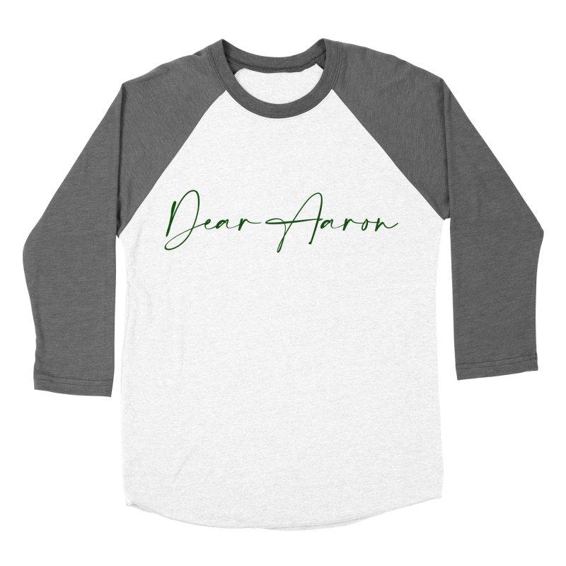 Dear Aaron (Dark Color Ink) Women's Baseball Triblend Longsleeve T-Shirt by M A R I A N A    Z A P A T A
