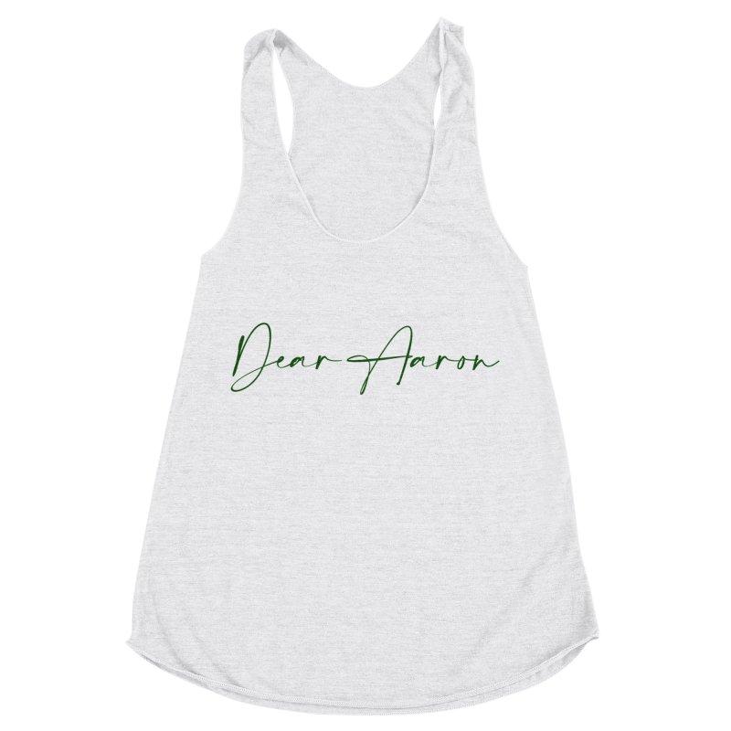 Dear Aaron (Dark Color Ink) Women's Racerback Triblend Tank by M A R I A N A    Z A P A T A