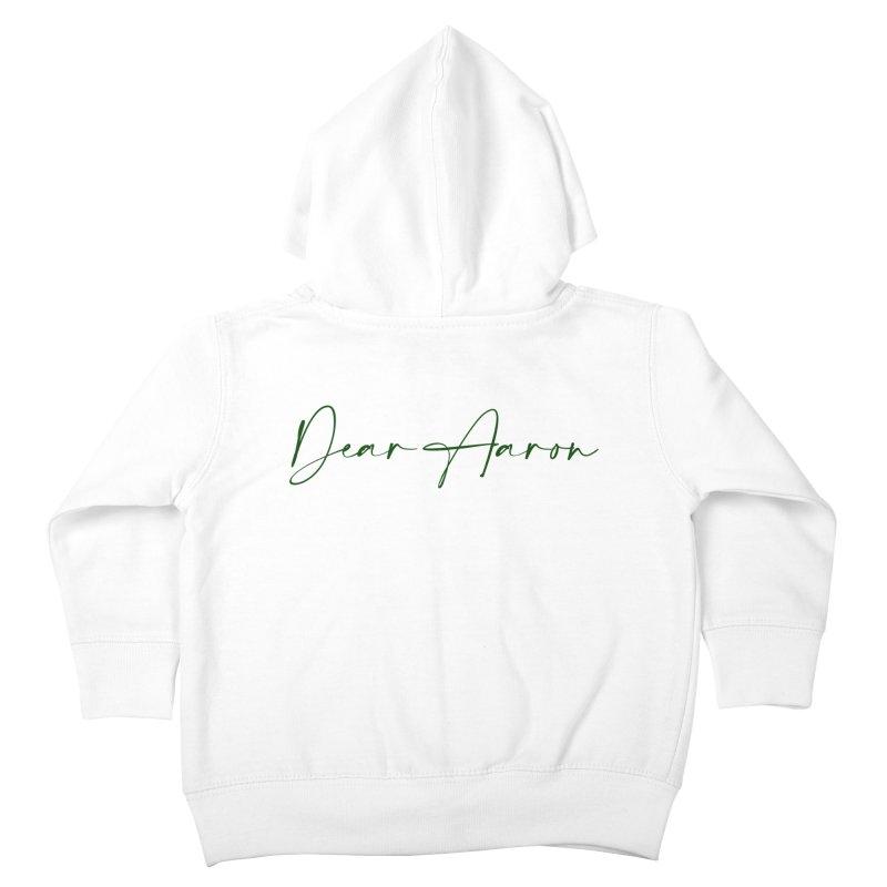 Dear Aaron (Dark Color Ink) Kids Toddler Zip-Up Hoody by M A R I A N A    Z A P A T A