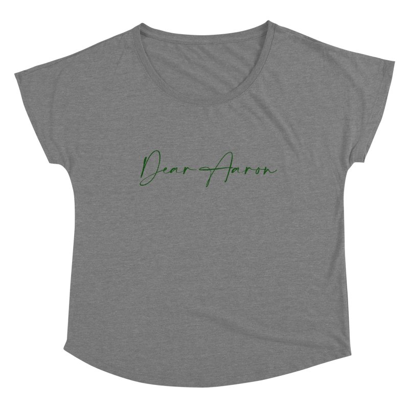 Dear Aaron (Dark Color Ink) Women's Scoop Neck by M A R I A N A    Z A P A T A