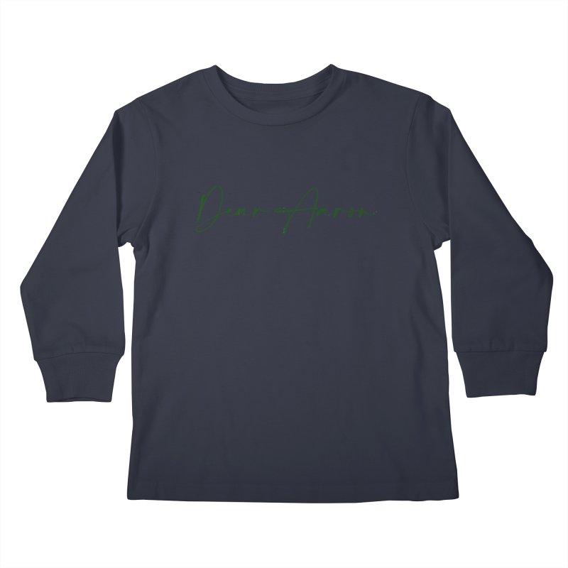 Dear Aaron (Dark Color Ink) Kids Longsleeve T-Shirt by M A R I A N A    Z A P A T A