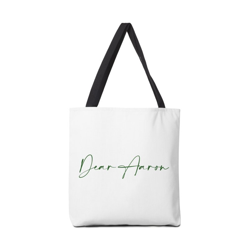 Dear Aaron (Dark Color Ink) Accessories Bag by M A R I A N A    Z A P A T A