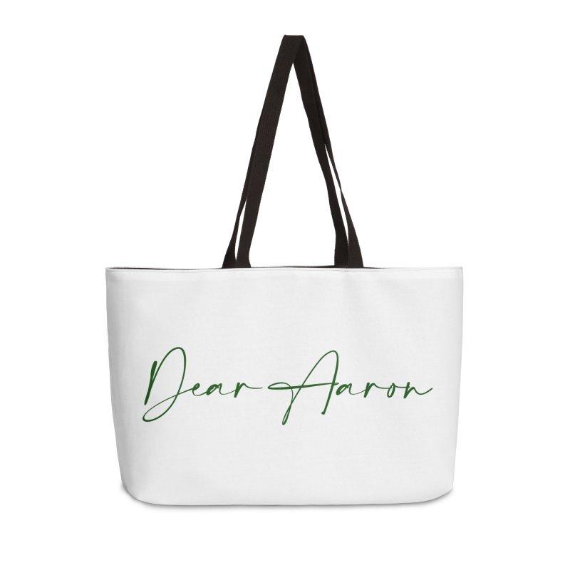 Dear Aaron (Dark Color Ink) Accessories Weekender Bag Bag by M A R I A N A    Z A P A T A