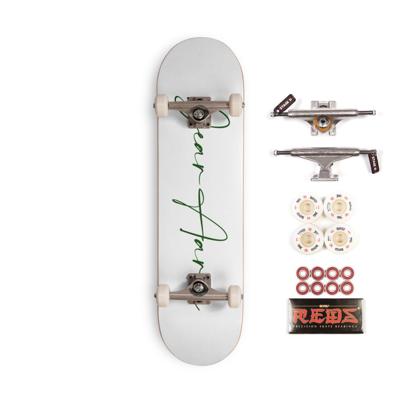 Dear Aaron (Dark Color Ink) Accessories Complete - Pro Skateboard by M A R I A N A    Z A P A T A
