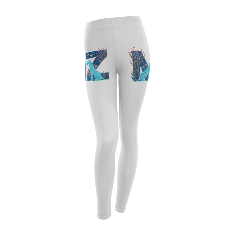 MZ Logo Women's Leggings Bottoms by M A R I A N A    Z A P A T A