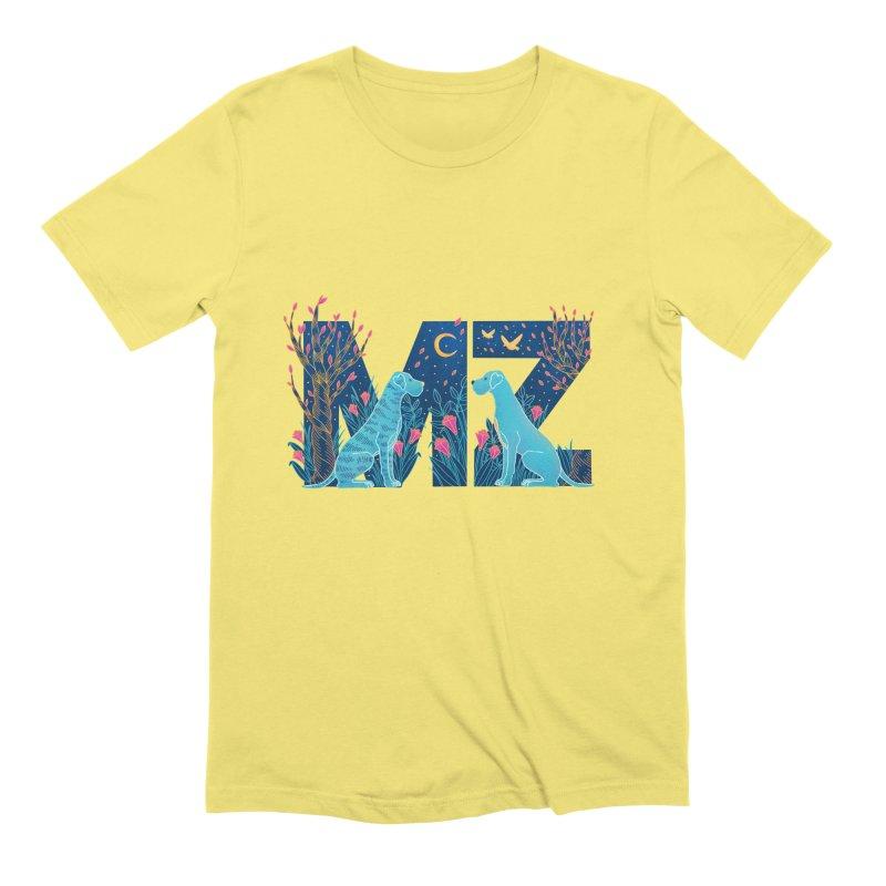 MZ Logo Men's Extra Soft T-Shirt by M A R I A N A    Z A P A T A