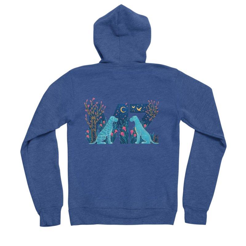 MZ Logo Men's Sponge Fleece Zip-Up Hoody by M A R I A N A    Z A P A T A