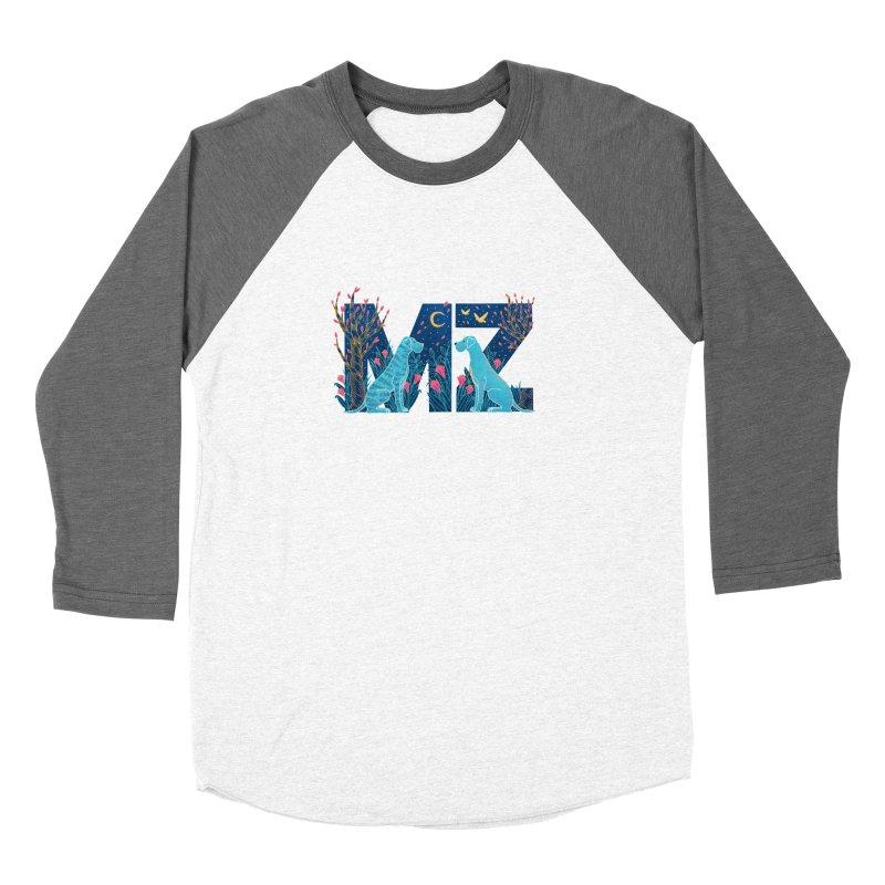 MZ Logo Women's Baseball Triblend Longsleeve T-Shirt by M A R I A N A    Z A P A T A