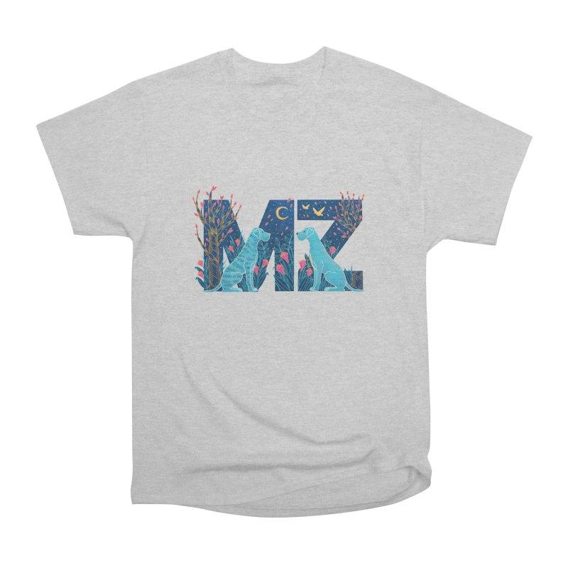 MZ Logo Women's Heavyweight Unisex T-Shirt by M A R I A N A    Z A P A T A
