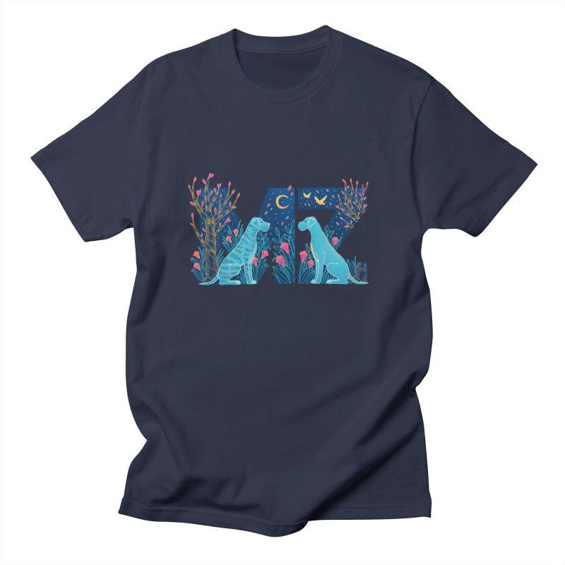 MZ Logo Men's Regular T-Shirt by M A R I A N A    Z A P A T A