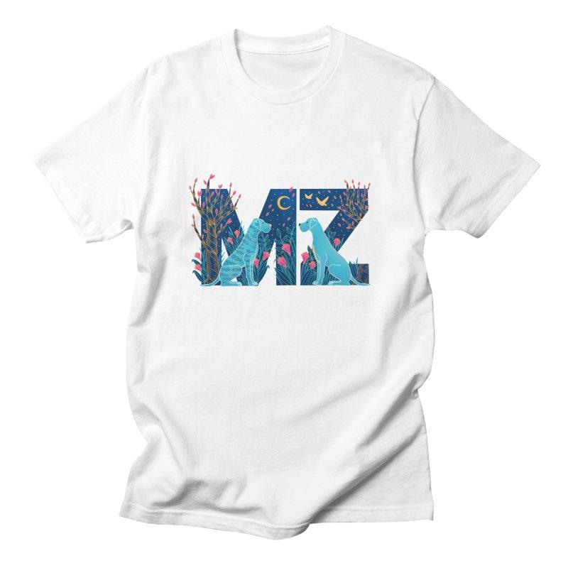 MZ Logo Women's Regular Unisex T-Shirt by M A R I A N A    Z A P A T A