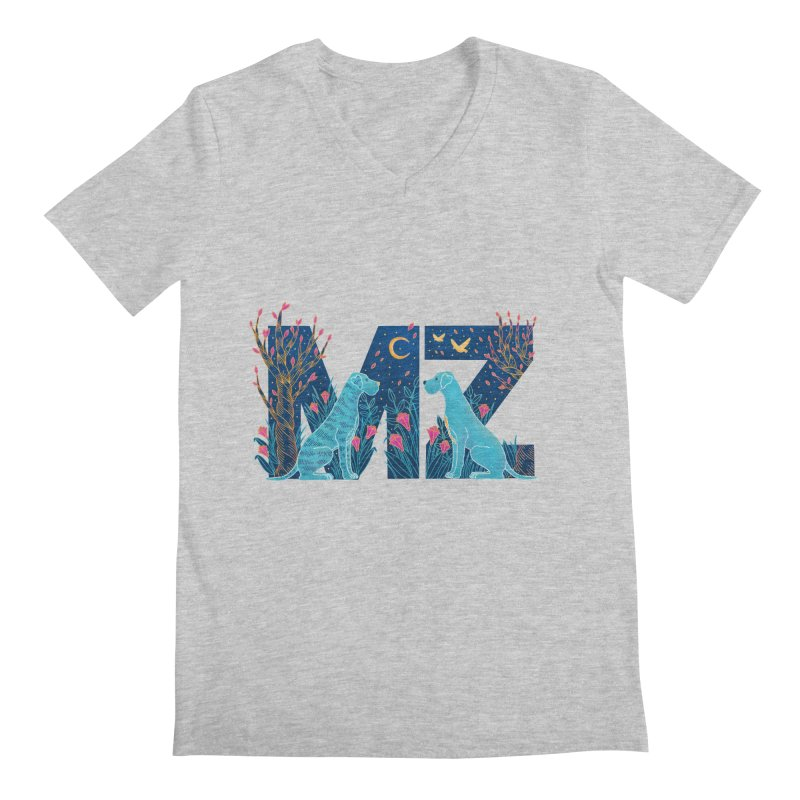 MZ Logo Men's Regular V-Neck by M A R I A N A    Z A P A T A