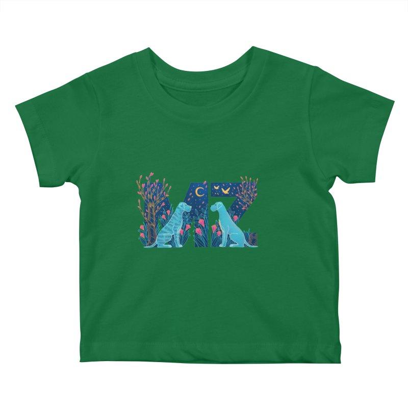 MZ Logo Kids Baby T-Shirt by M A R I A N A    Z A P A T A