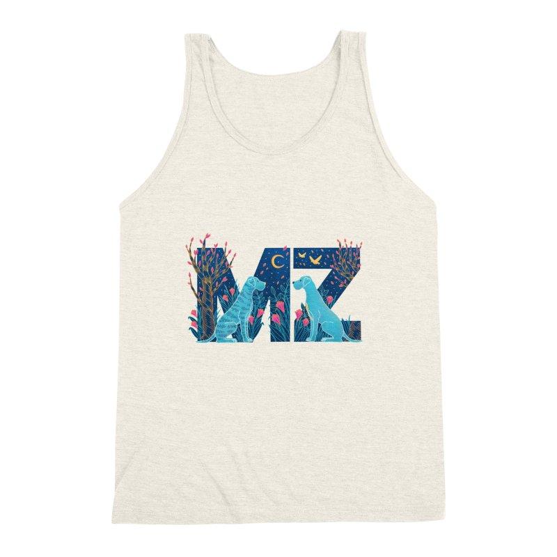 MZ Logo Men's Triblend Tank by M A R I A N A    Z A P A T A