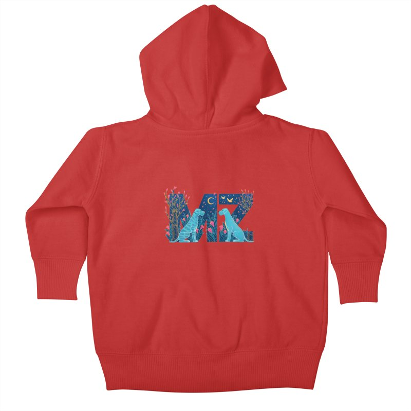 MZ Logo Kids Baby Zip-Up Hoody by M A R I A N A    Z A P A T A