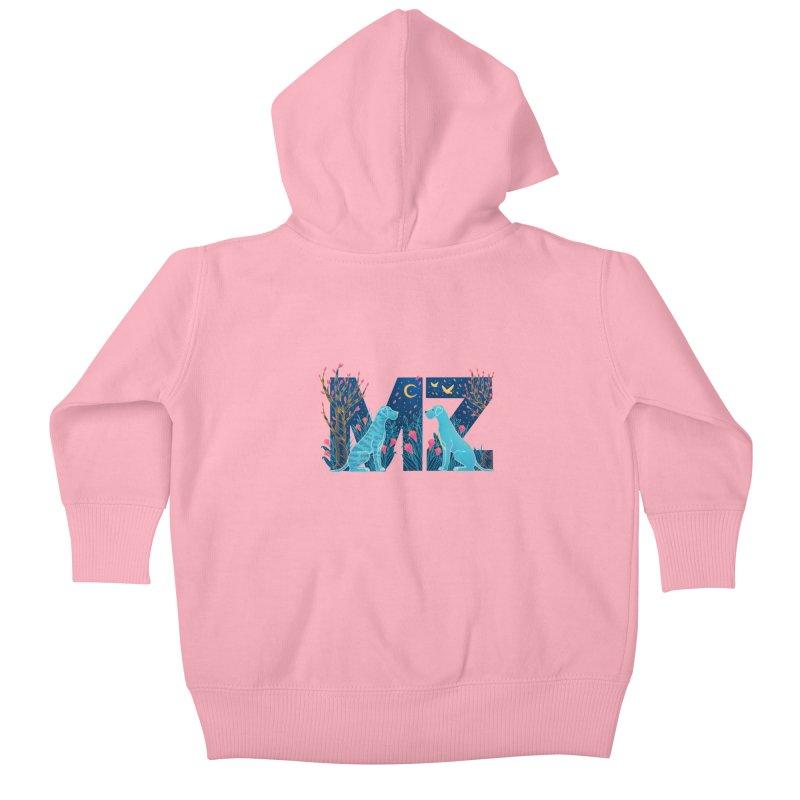 MZ Logo Kids Baby Zip-Up Hoody by M A R I A N A    Z A P A T A