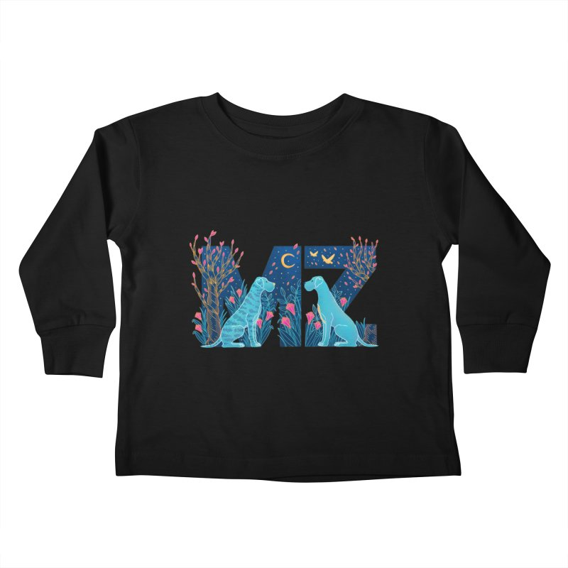 MZ Logo Kids Toddler Longsleeve T-Shirt by M A R I A N A    Z A P A T A