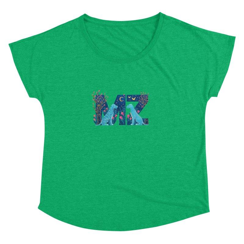 MZ Logo Women's Dolman Scoop Neck by M A R I A N A    Z A P A T A