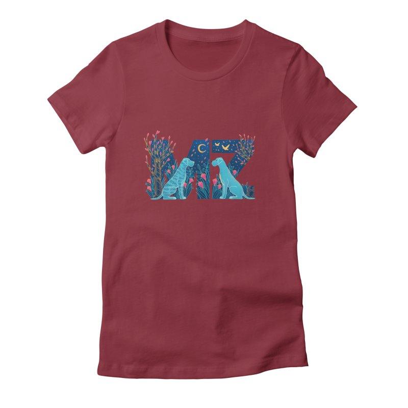 MZ Logo Women's Fitted T-Shirt by M A R I A N A    Z A P A T A