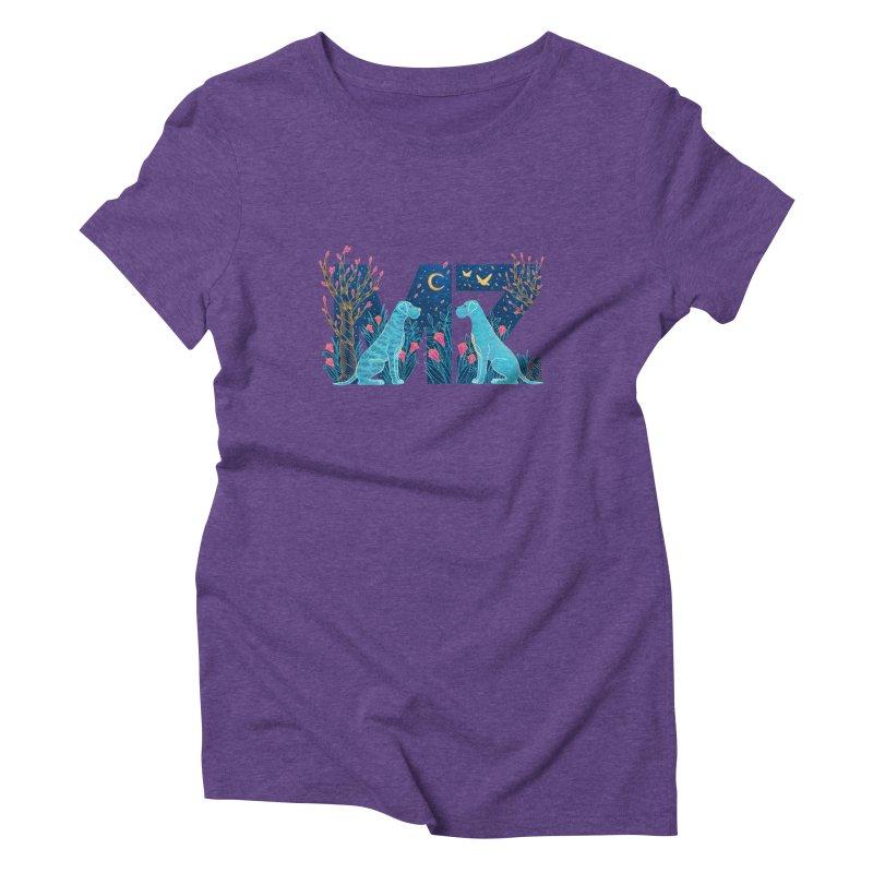 MZ Logo Women's Triblend T-Shirt by M A R I A N A    Z A P A T A