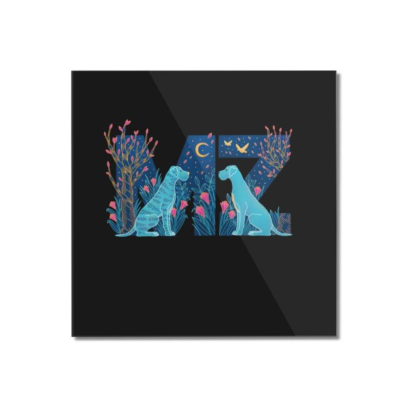 MZ Logo Home Mounted Acrylic Print by M A R I A N A    Z A P A T A
