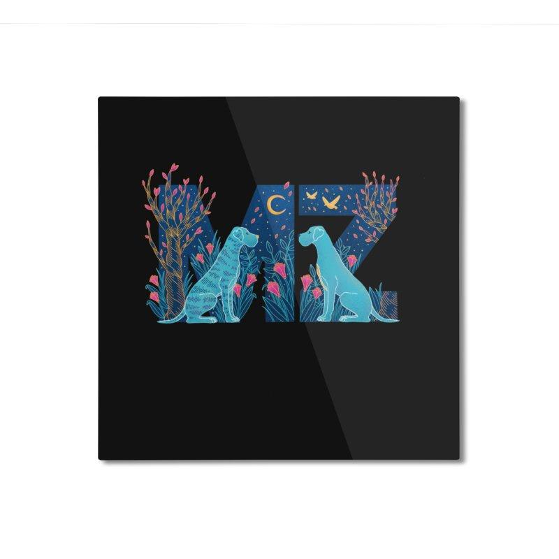 MZ Logo Home Mounted Aluminum Print by M A R I A N A    Z A P A T A