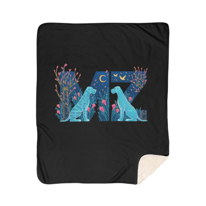 MZ Logo Home Sherpa Blanket Blanket by M A R I A N A    Z A P A T A