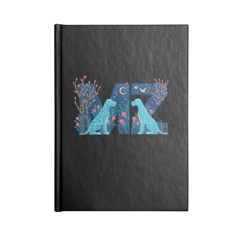 MZ Logo Accessories Blank Journal Notebook by M A R I A N A    Z A P A T A