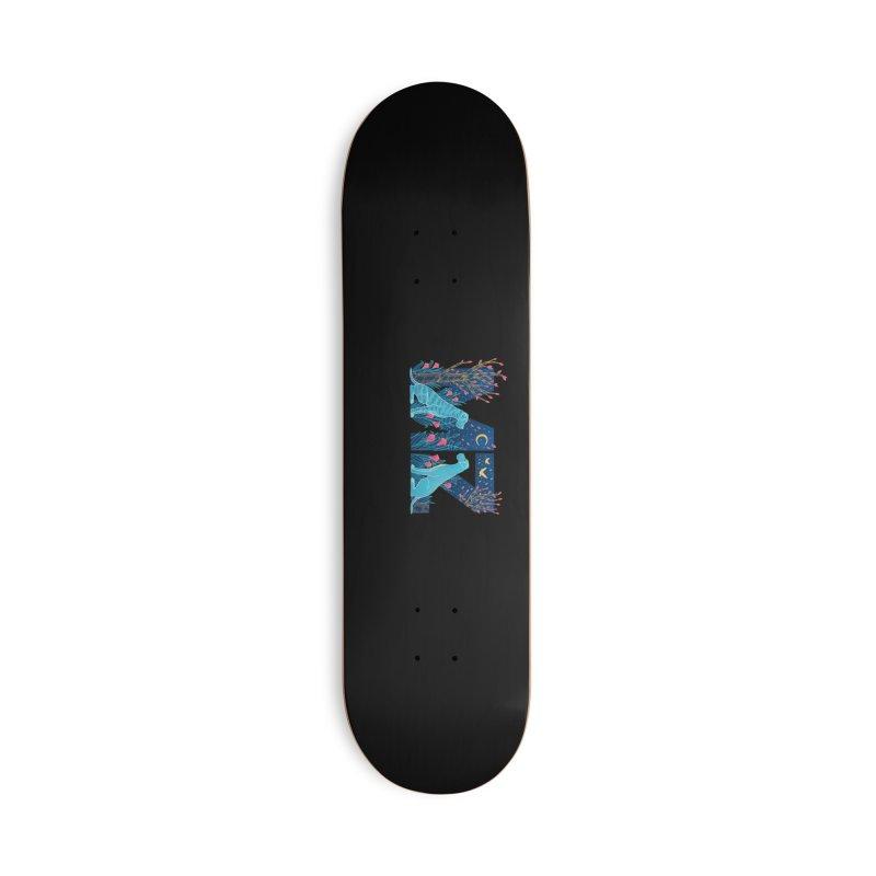 MZ Logo Accessories Deck Only Skateboard by M A R I A N A    Z A P A T A