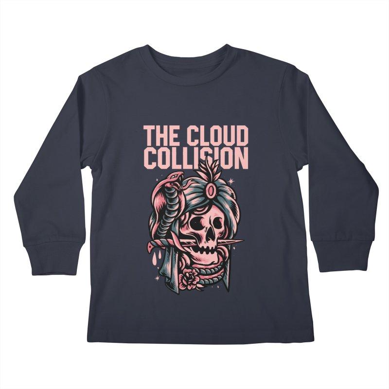 Cloud Collision (Rhythm, Chord & Malykhin) Kids Longsleeve T-Shirt by M A R I A N A    Z A P A T A