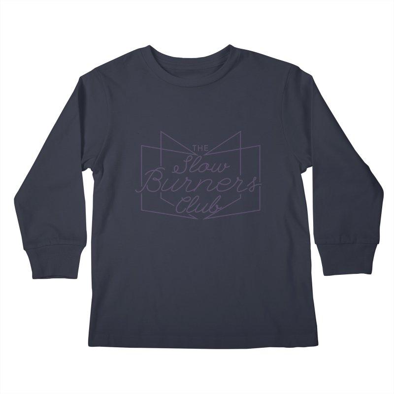 2020 Slow Burners Club (Open Book Design) Kids Longsleeve T-Shirt by M A R I A N A    Z A P A T A