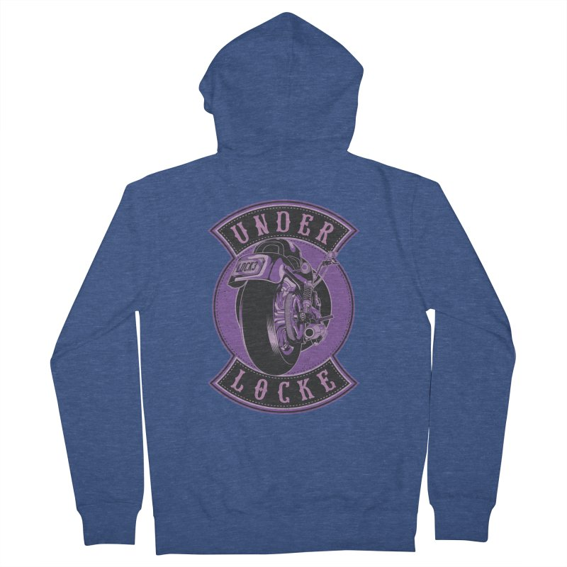 Under Locke (Purple Inks) Men's French Terry Zip-Up Hoody by M A R I A N A    Z A P A T A