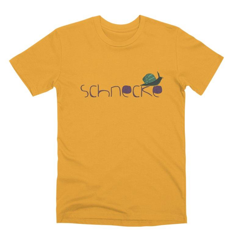 Kulti - Schnecke Design 2 Men's Premium T-Shirt by M A R I A N A    Z A P A T A