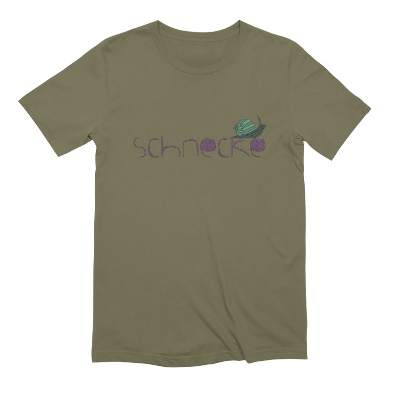 Kulti - Schnecke Design 2 Men's Extra Soft T-Shirt by M A R I A N A    Z A P A T A