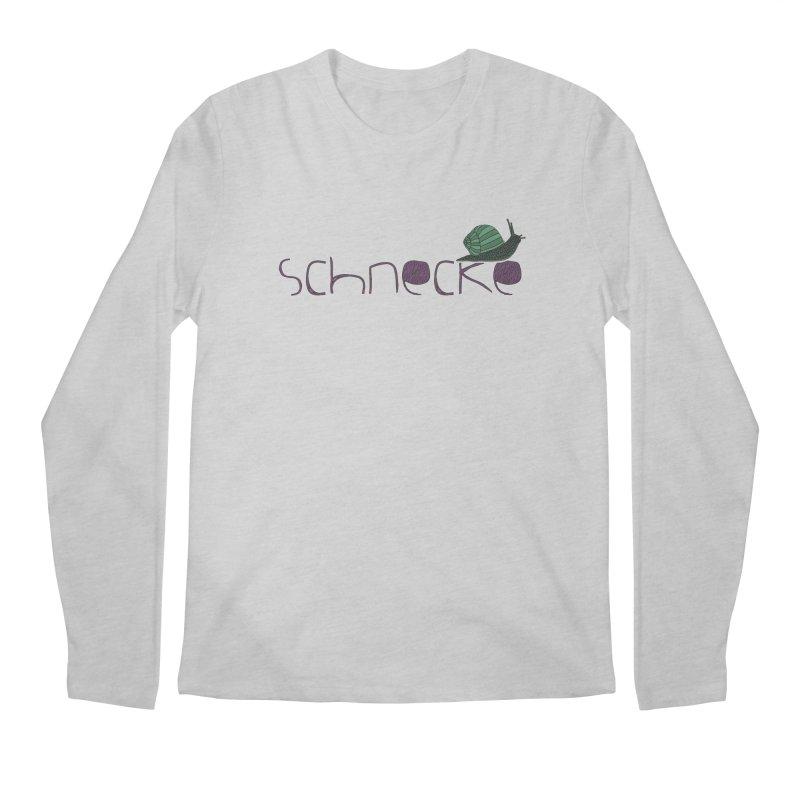 Kulti - Schnecke Design 2 Men's Regular Longsleeve T-Shirt by M A R I A N A    Z A P A T A