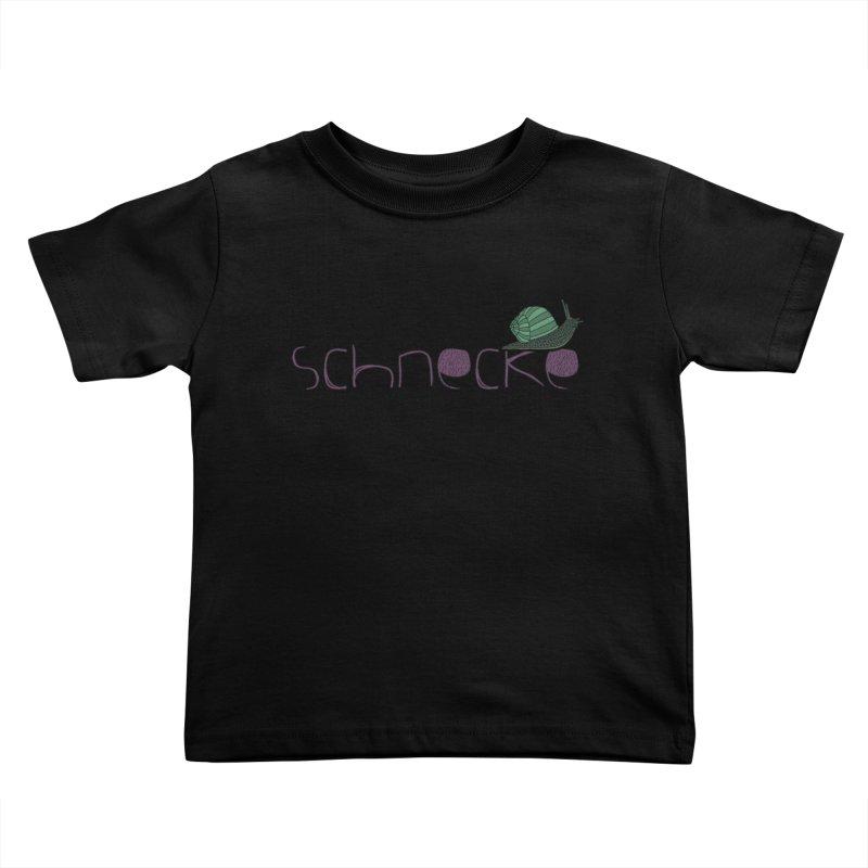 Kulti - Schnecke Design 2 Kids Toddler T-Shirt by M A R I A N A    Z A P A T A