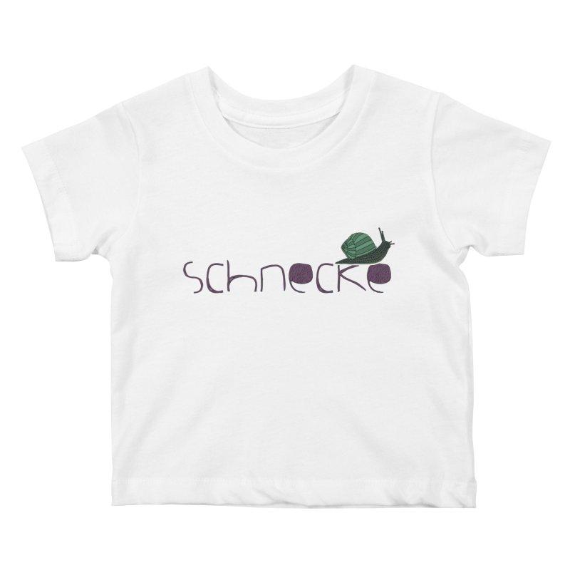 Kulti - Schnecke Design 2 Kids Baby T-Shirt by M A R I A N A    Z A P A T A