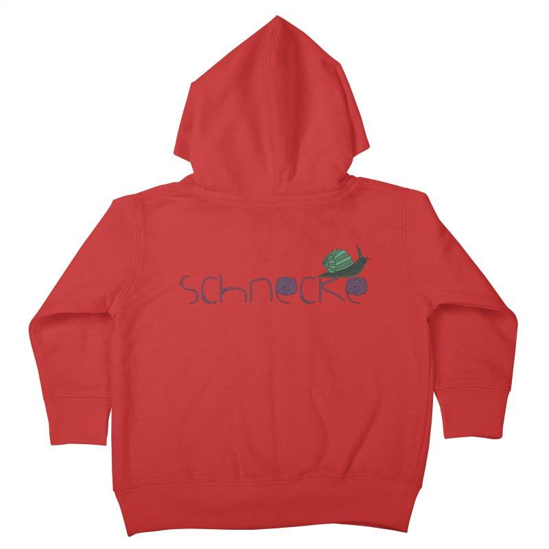Kulti - Schnecke Design 2 Kids Toddler Zip-Up Hoody by M A R I A N A    Z A P A T A