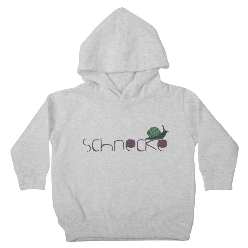 Kulti - Schnecke Design 2 Kids Toddler Pullover Hoody by M A R I A N A    Z A P A T A