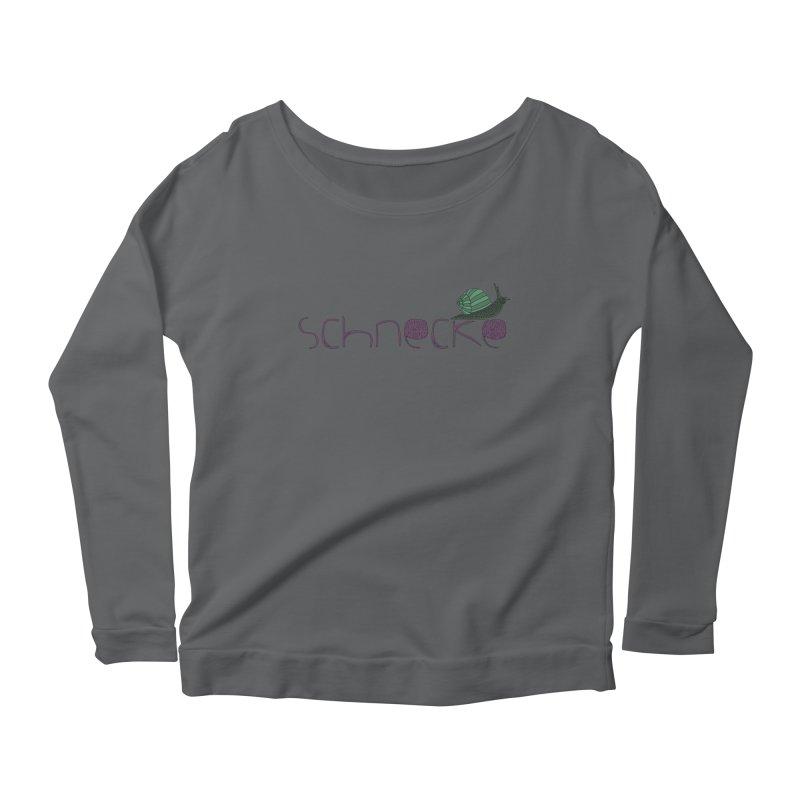 Kulti - Schnecke Design 2 Women's Scoop Neck Longsleeve T-Shirt by M A R I A N A    Z A P A T A