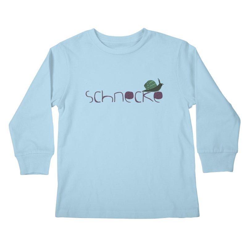 Kulti - Schnecke Design 2 Kids Longsleeve T-Shirt by M A R I A N A    Z A P A T A