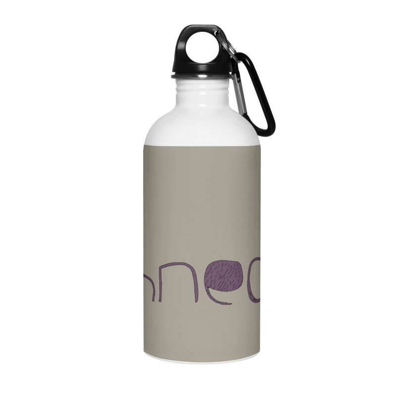 Kulti - Schnecke Design 2 Accessories Water Bottle by M A R I A N A    Z A P A T A