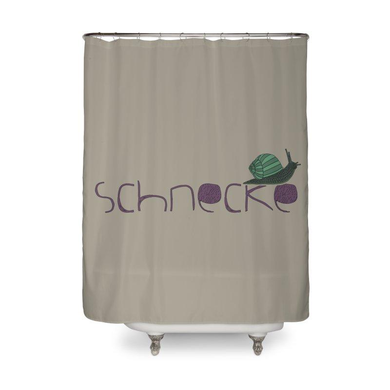 Kulti - Schnecke Design 2 Home Shower Curtain by M A R I A N A    Z A P A T A