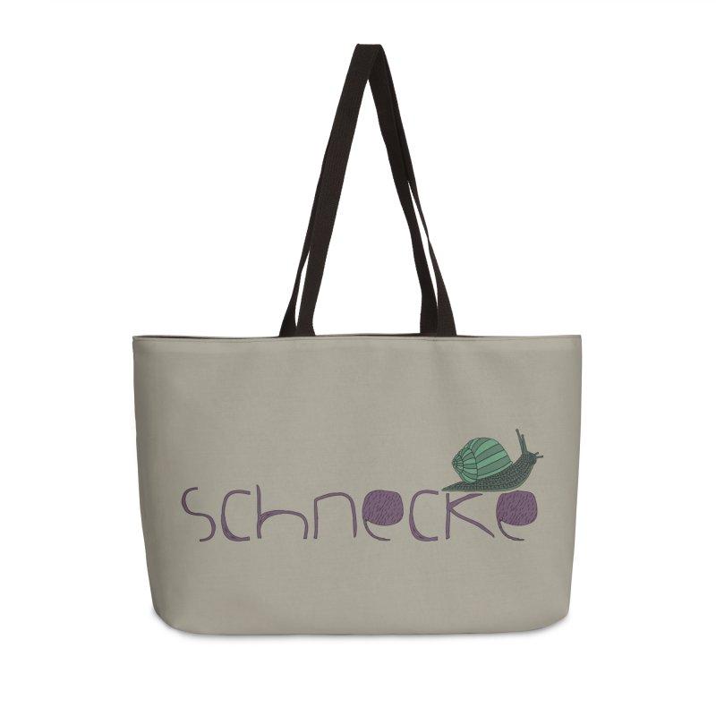 Kulti - Schnecke Design 2 Accessories Weekender Bag Bag by M A R I A N A    Z A P A T A