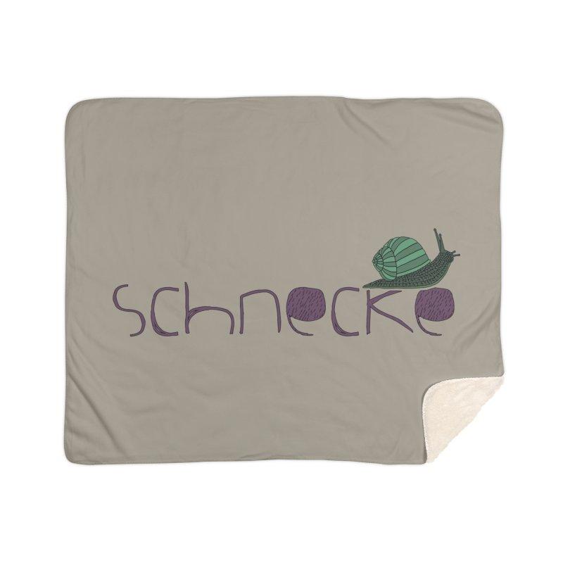 Kulti - Schnecke Design 2 Home Sherpa Blanket Blanket by M A R I A N A    Z A P A T A